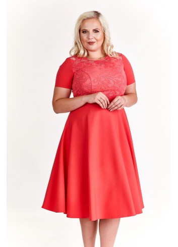 Elegancka sukienka koktajlowa na wesele Plus Size