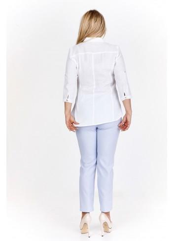 Koszula bawełniana z rękawami 3/4 Plus Size