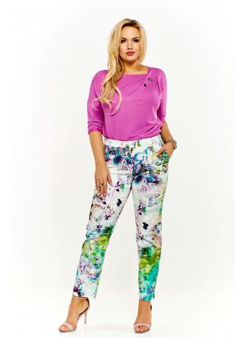 Wzorzyste spodnie Plus Size