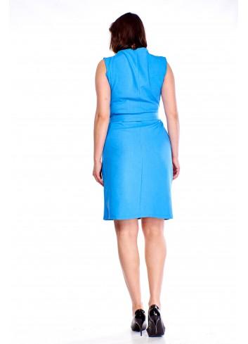 Kopertowa sukienka codzienna z paskiem Plus Size