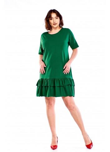 Sukienka z dwuwarstwową falbanką Plus Size