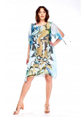 Sukienka ze zwiewnej tkaniny Plus Size
