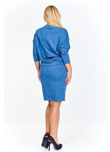 Sukienka w melanżowym odceniu PLUS SIZE