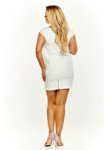 Sukienka z ażurowym wzorem Plus Size