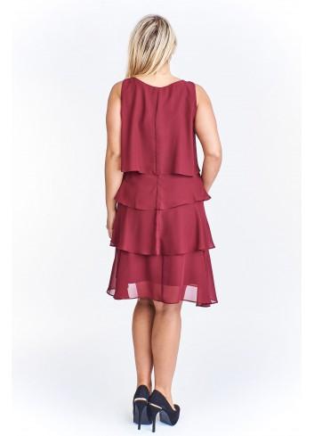 Sukienka z falbankami na wesele Plus Size