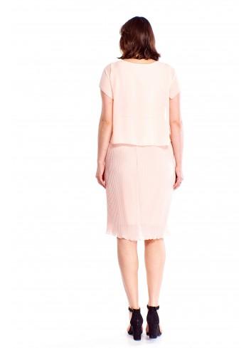 Sukienka ze zwiewną bluzką Plus Size