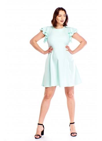 Sukienka z rękawami a'la motyl Plus Size