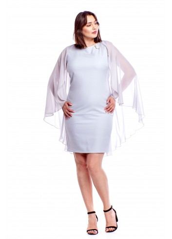 Sukienka z elegancką narzutką Plus Size