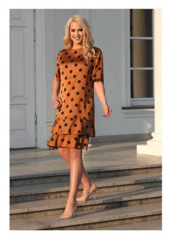 Sukienka w grochy Plus Size