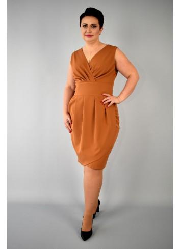 eed8a127f4 sukienka Kolor Brązowy Rozmiar 44
