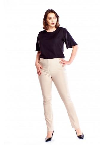 Eleganckie spodnie z podwyższonym stanem Plus Size