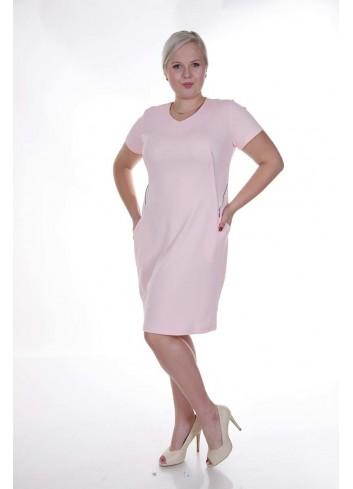 Sukienka taliowana z ozdobnymi suwakami Plus Size