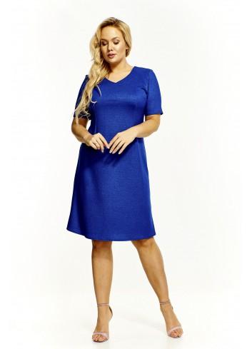 Sukienka z efektem połysku Plus Size