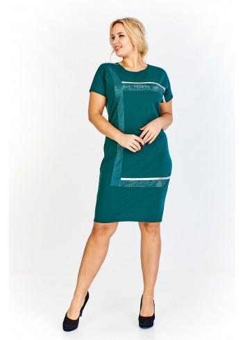 Sukienka z ciekawym wzorem z przodu Plus Size