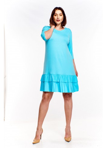 Sukienka z falbanką Plus Size
