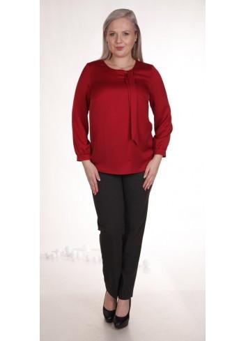 Elegancka bluzka z wiązaniem przy dekolcie Plus Size