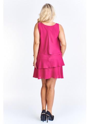 Falbaniasta sukienka koktajlowa Plus Size