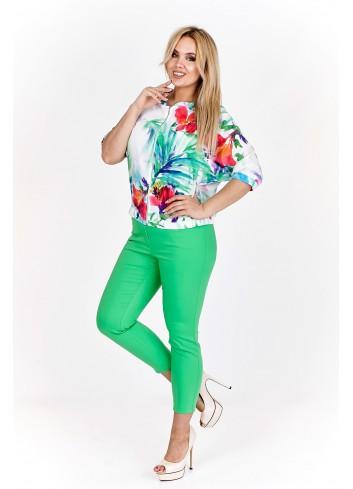 Wzorzysta bluza typu motyl Plus Size