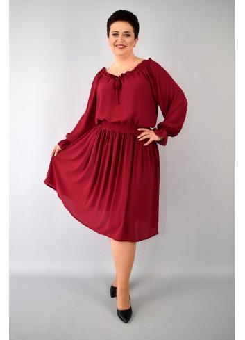 Luźna sukienka ze ściągaczami Plus Size
