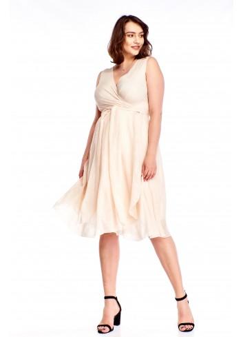 Sukienka z delikatnym wzorem Plus Size