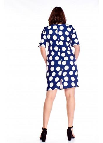 Pudełkowa sukienka w grochy Plus Size