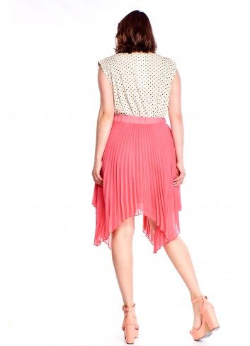 Plisowana spódnica o asymetrycznym kroju Plus Size