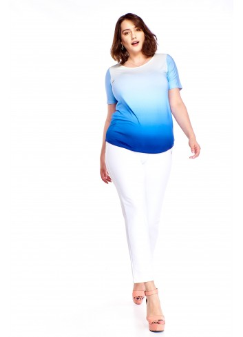 Cieniowana bluzka Plus Size