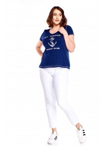 Bluzka z nadrukiem Plus Size