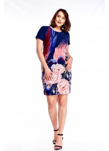 Ołówkowa sukienka we wzór Plus Size