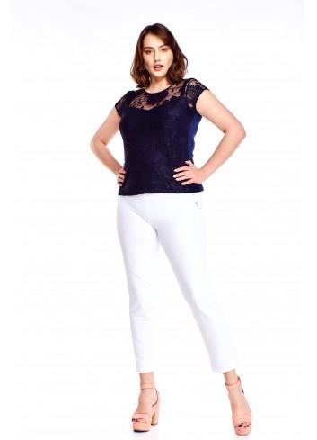 Bluzka z siateczki ze wzorem Plus Size