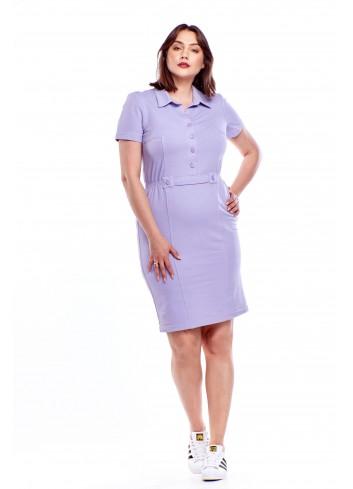 Sukienka szmizjerka Plus Size