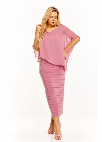 Sukienka z asymetryczną bluzką Plus Size