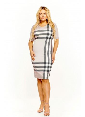 Sukienka w kratę Plus Size