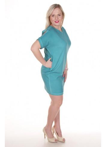 Sukienka tuba z krótkimi rękawami Plus Size