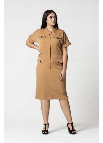 Sukienka w militarnym stylu Plus Size
