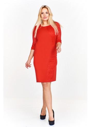 Sukienka z koronkowymi wstawkami Plus Size