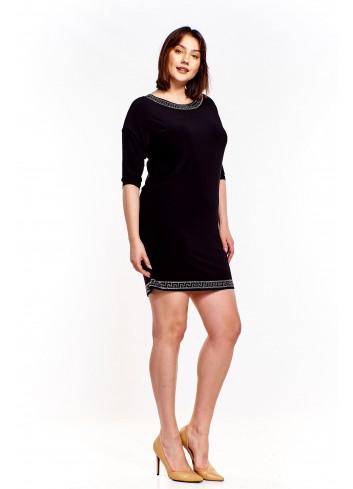 Sukienka mini z dżetami Plus Size