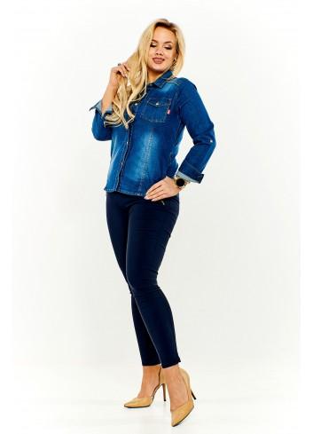 Jeansowa bluzka koszulowa