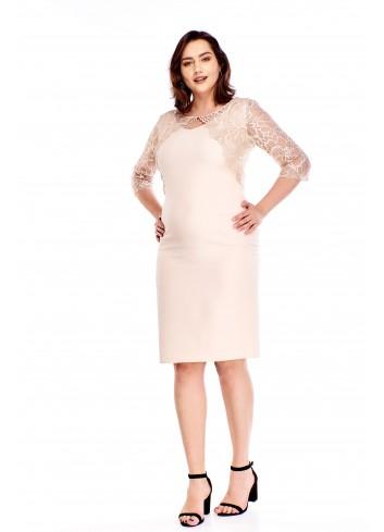 Sukienka z koronkowym bolerkiem Plus Size