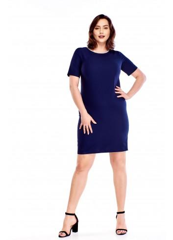 Ołówkowa sukienka z ozdobnym wykończeniem Plus Size