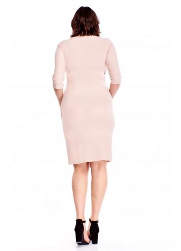 Sukienka z drapowaniem po boku Plus Size