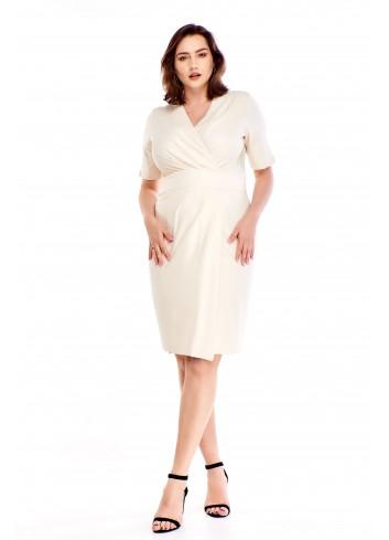 Szlafrokowa sukienka z kopertowym dekoltem Plus Size