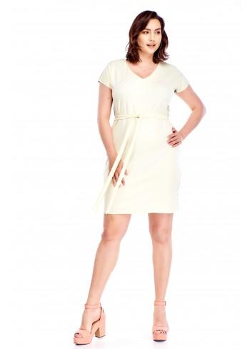 Ołówkowa sukienka z wiązaniem w pasie Plus Size