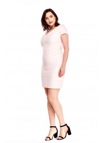 Ołówkowa sukienka z wyszywanym wzorem Plus Size