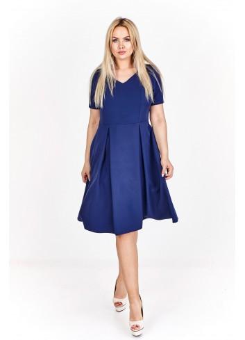 Rozkloszowana sukienka koktajlowa Plus Size