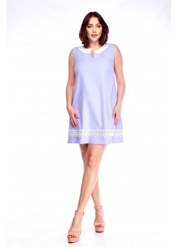 Sukienka z koronkową wstawką Plus Size