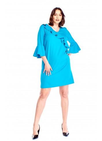 Sukienka z falbaną Plus Size