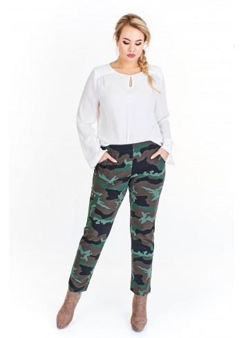 Casualowe spodnie moro Plus Size