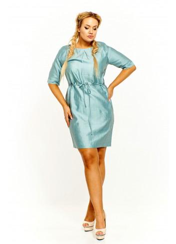 Połyskująca sukienka z paskiem Plus Size