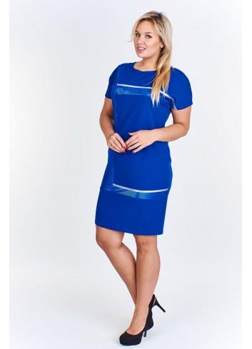 Sukienka z błyszczącymi aplikacjami